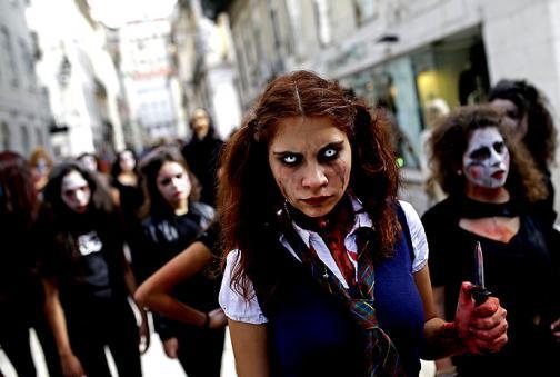 En imágenes: un día de 'horror' en el mundo con Halloween