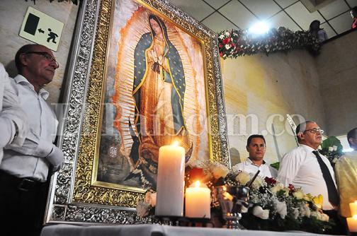 Imágenes: réplica de la vírgen de Guadalupe llega al Valle del Cauca