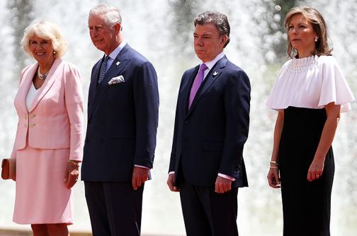 Imágenes: presidente Juan Manuel Santos rindió honores al Príncipe Carlos