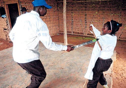 En imágenes: así se practica la grima de machetes