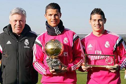 Así felicitó Real Madrid a James Rodríguez y Cristiano Ronaldo