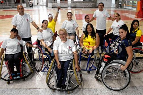 Imágenes: La selección Colombia de baloncesto de silla de ruedas se alista