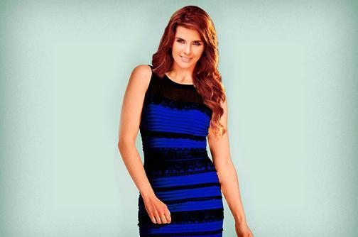 ¿Cómo se verían 10 famosas colombianas con el vestido más polémico de internet?
