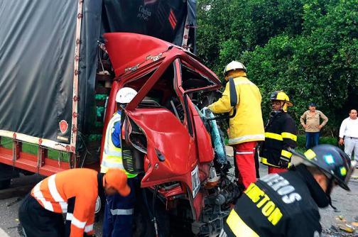 Seis heridos dejó accidente de tránsito sobre la vía Panamericana