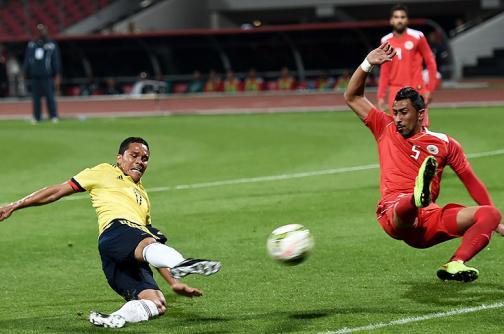 Imágenes: así se vivió la goleada de la selección Colombia ante Bahréin