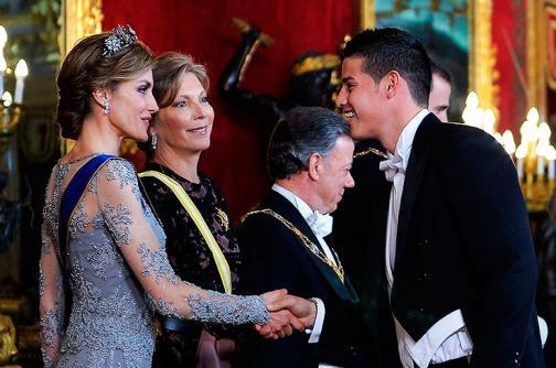 En fotos: James Rodríguez también estuvo en la cena con los reyes de España