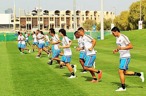 La selección Colombia entrenó en los Emiratos Árabes