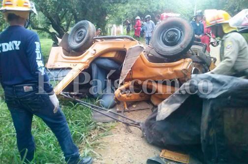 Dos personas murieron en accidente de tránsito en Riofrío