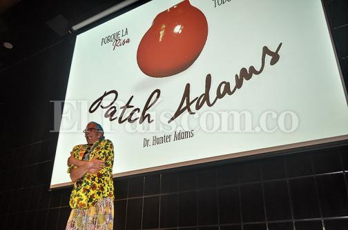 El mensaje que dejó Patch Adams en su visita a Cali