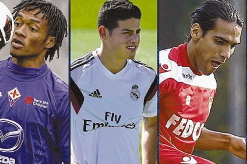 Siete colombianos entre los jugadores más importantes del mundo