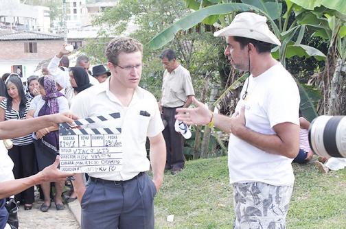 En imágenes: El rodaje de la película 'Vía crucis' grabada en Timbío, Cauca