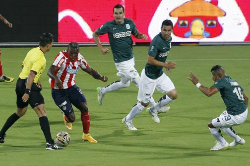Empate de Atlético Nacional con sabor a derrota ante Junior