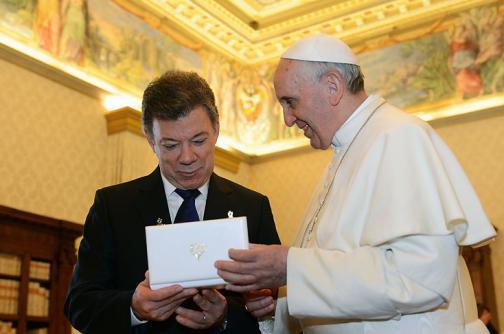 Presidente Santos se reunirá con el papa Francisco en junio