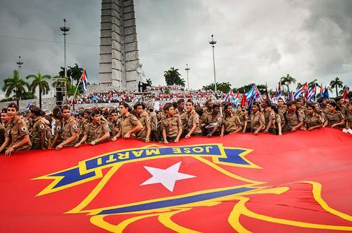 En imágenes: Así fue el desfile del Día del Trabajo en la Habana, Cuba