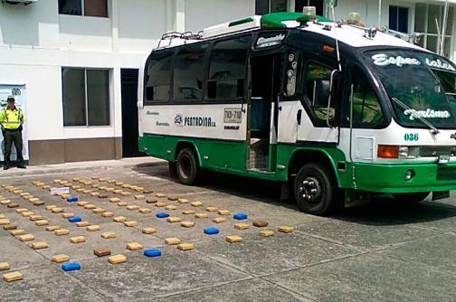 Decomisan 250 kilos de marihuana en el peaje de Bugalagrande