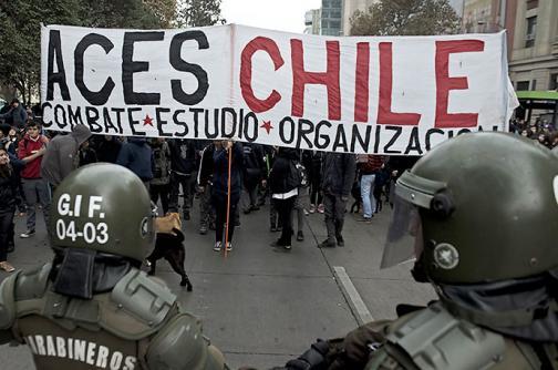 Estudiantes chilenos protestan contra reforma educativa