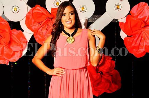 Raquel Emilia López, candidata de Yotoco a señorita Valle, una reina deportista