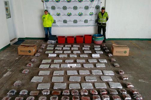Incautan cargamento de marihuana avaluado en $60 millones en Yumbo