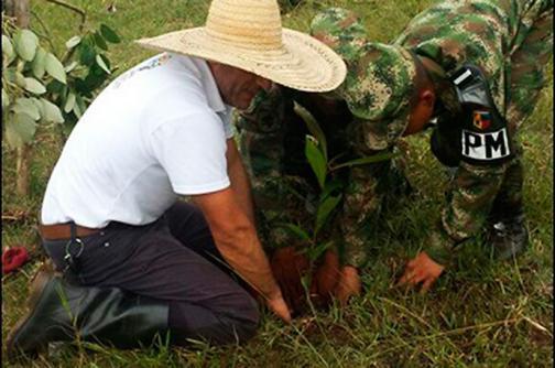 Ejército acompañó jornada de restitución de tierras en la vía Cali-Jamundí