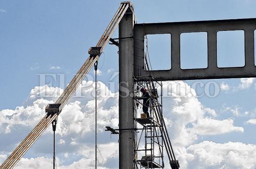 Obras del puente de Juanchito van en un 30 %