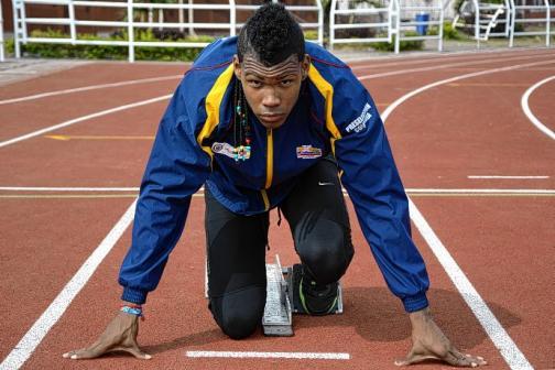 Anthony Zambrano, con 'pinta' de oro para el Mundial de Atletismo de Menores