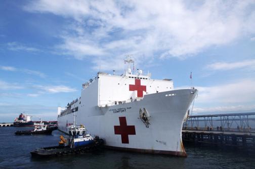 La próxima semana llegará a Buenaventura el buque hospital más grande del mundo