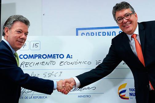 Santos se comprometió a que la tasa de crecimiento en 2018 será de 4,5%
