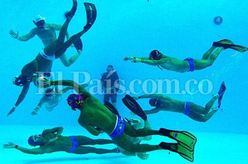 Imágenes: así transcurre el Mundial de Rugby Subacuático de Cali
