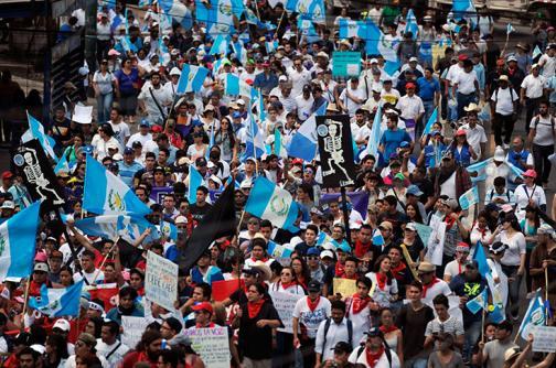 En imágenes: así lucen las calles de Guatemala tras protesta contra Otto Pérez