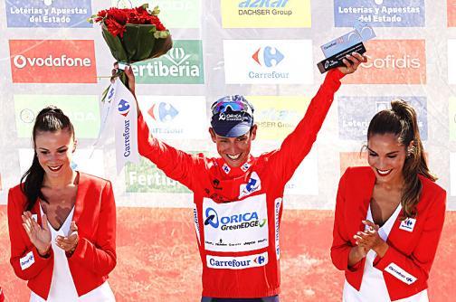 Esteban Chaves mantiene el liderato de la Vuelta a España