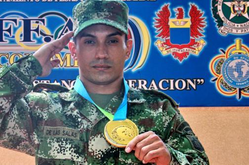Habib De las Salas, el soldado más fuerte del país
