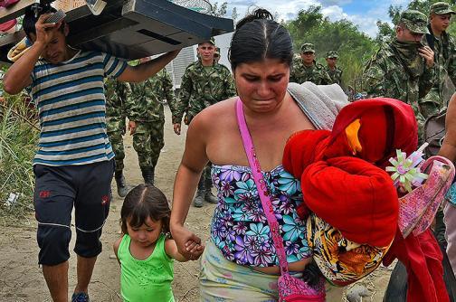 Conmovedoras y duras imágenes de la crisis humanitaria en la frontera