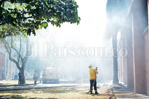 Incendio generó alerta en sede de la Universidad Nacional en Palmira