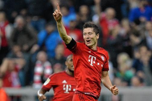 Robert Lewandowski fue figura con el Bayer Múnich