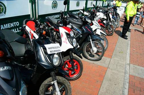 Recuperan 18 motocicletas hurtadas en el Valle del Cauca