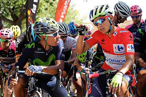 Nairo Quintana y Esteban Chaves terminaron en el Top 5 de la Vuelta a España