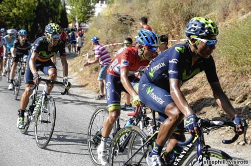 Nairo Quintana cedió terreno en la etapa reina de la Vuelta a España