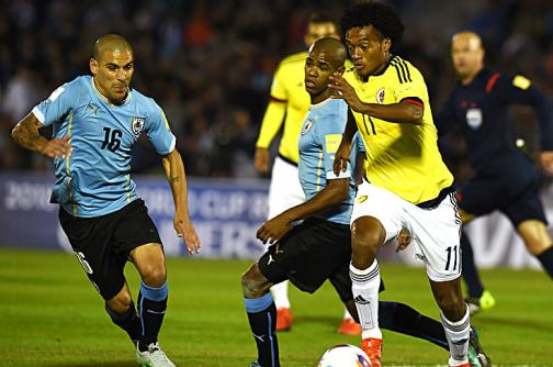 Imágenes: así se vivió el duelo entre la selección Colombia y Uruguay