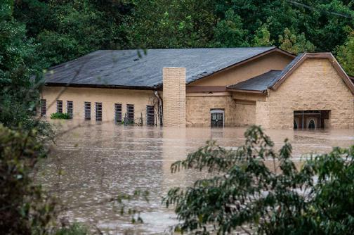 En imágenes: Carolina del Sur, con el 'agua al cuello' por fuertes lluvias