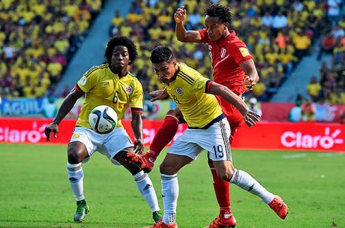 En imágenes: los mejores momentos de Colombia contra Perú