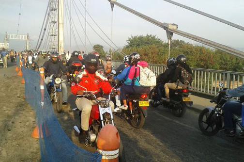 Normalizada la movilidad tras cierre del puente de Juanchito