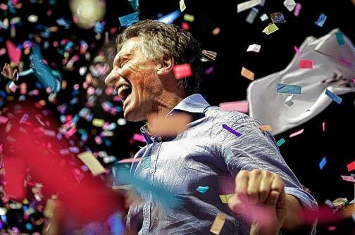 En fotografías: el triunfo histórico de Mauricio Macri, nuevo presidente argentino