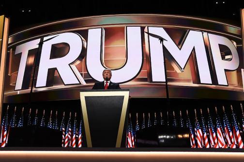 En 40 fotos: las mejores postales detrás del discurso de Donald Trump en Cleveland