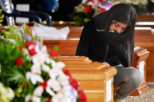 En fotos: el último adiós a las víctimas del terremoto que golpeó a Italia