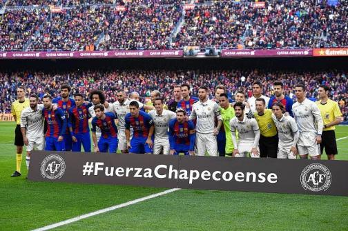 En imágenes: así homenajeó el mundo del fútbol al Chapecoense