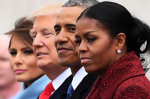 Las fotos inéditas de la llegada de Trump al poder