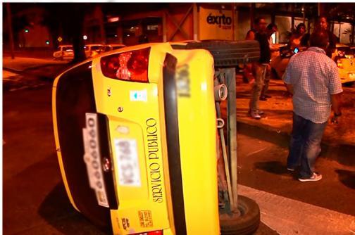 Video: heridos leves dejan dos aparatosos accidentes de tránsito en Cali
