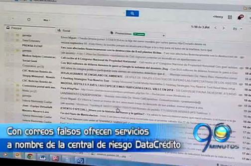 Denuncian falsos correos ofreciendo servicios a nombre de Data Crédito