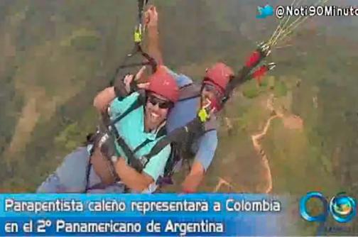 Caleño representará a Colombia en Panamericano de Parapente en Argentina