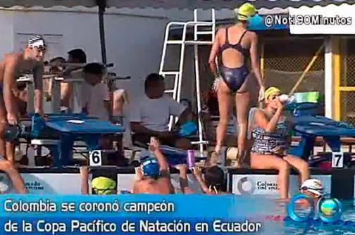 Colombia se coronó campeón en la Copa Pacífico de Natación en Ecuador